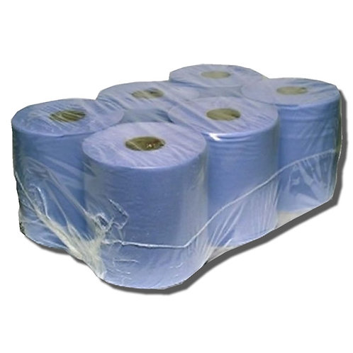 Centre Feed 2ply Blue Paper Roll 150M