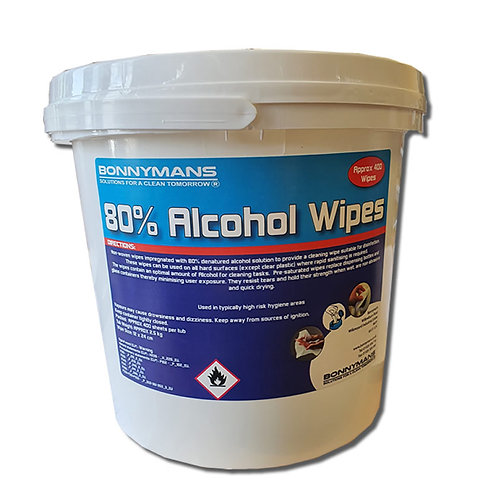 80% Alcohol Wipes (400 Sheets)
