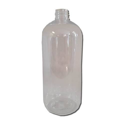 500ml Clear Plastic Round Boston Bottle (24/410mm Neck)