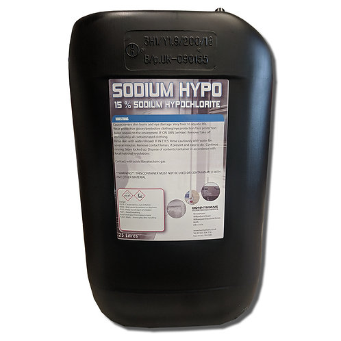 Sodium Hypochlorite (14/15%) - Hypo - Industrial Strength Bleach