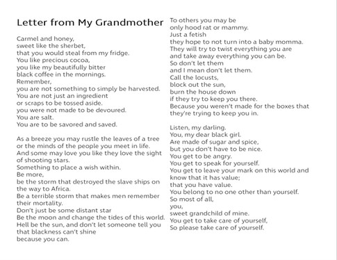 Letter from my Grandmother