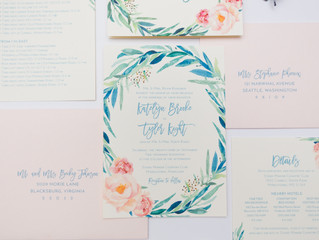 Floral Wedding Invitations, Four Ways.