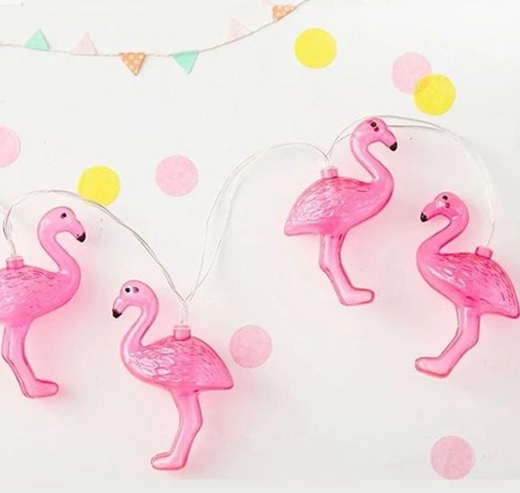Flamingo string lights.
