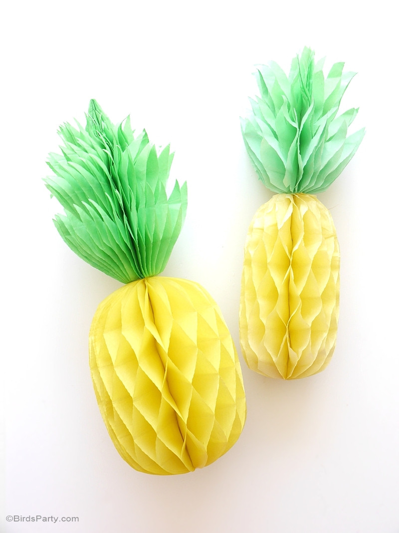 Paper honeycomb pineapples.
