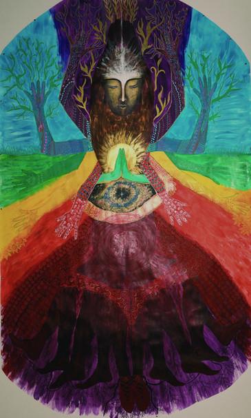 « Rencontre avec la Déesse Bouddha »- création de Soul Art- Bodymapping