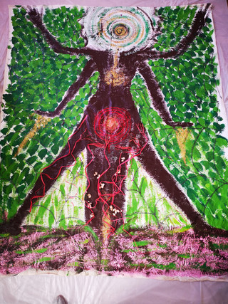 la Femme araignée (bodymapping)