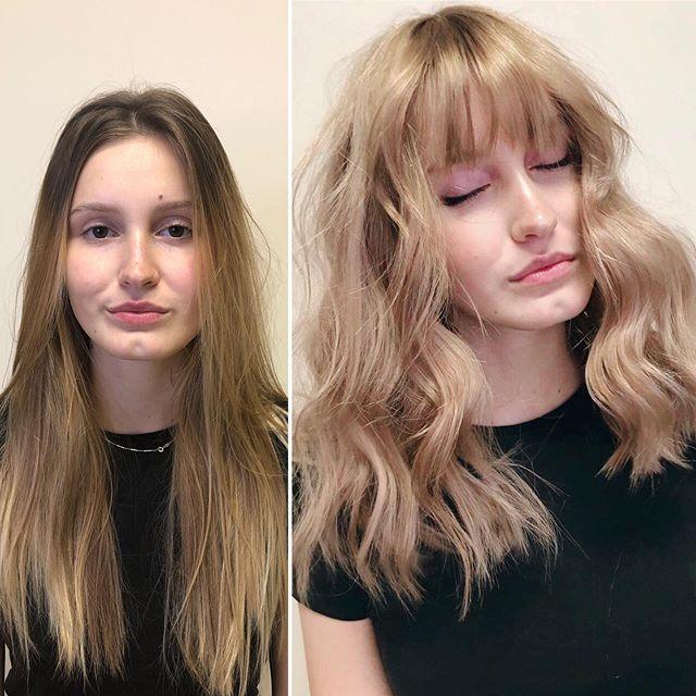 Změna střihu a barvy vlasu 👆to chce odv