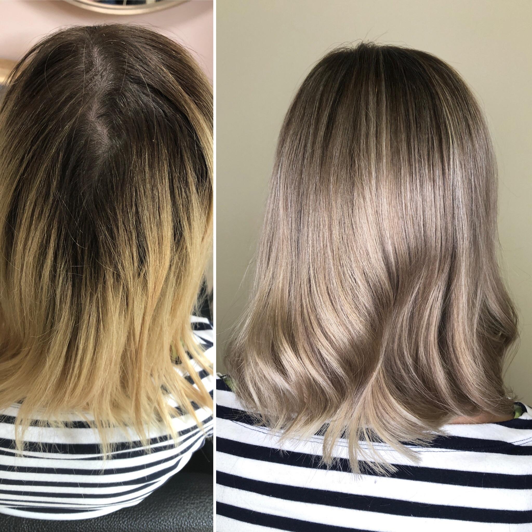 studená blond barva