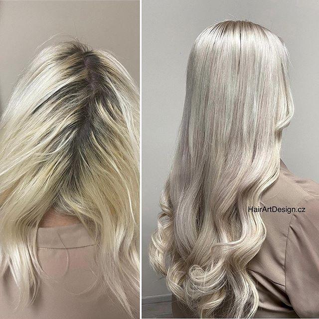 Barvení vlasů a prodloužení jemnými slov
