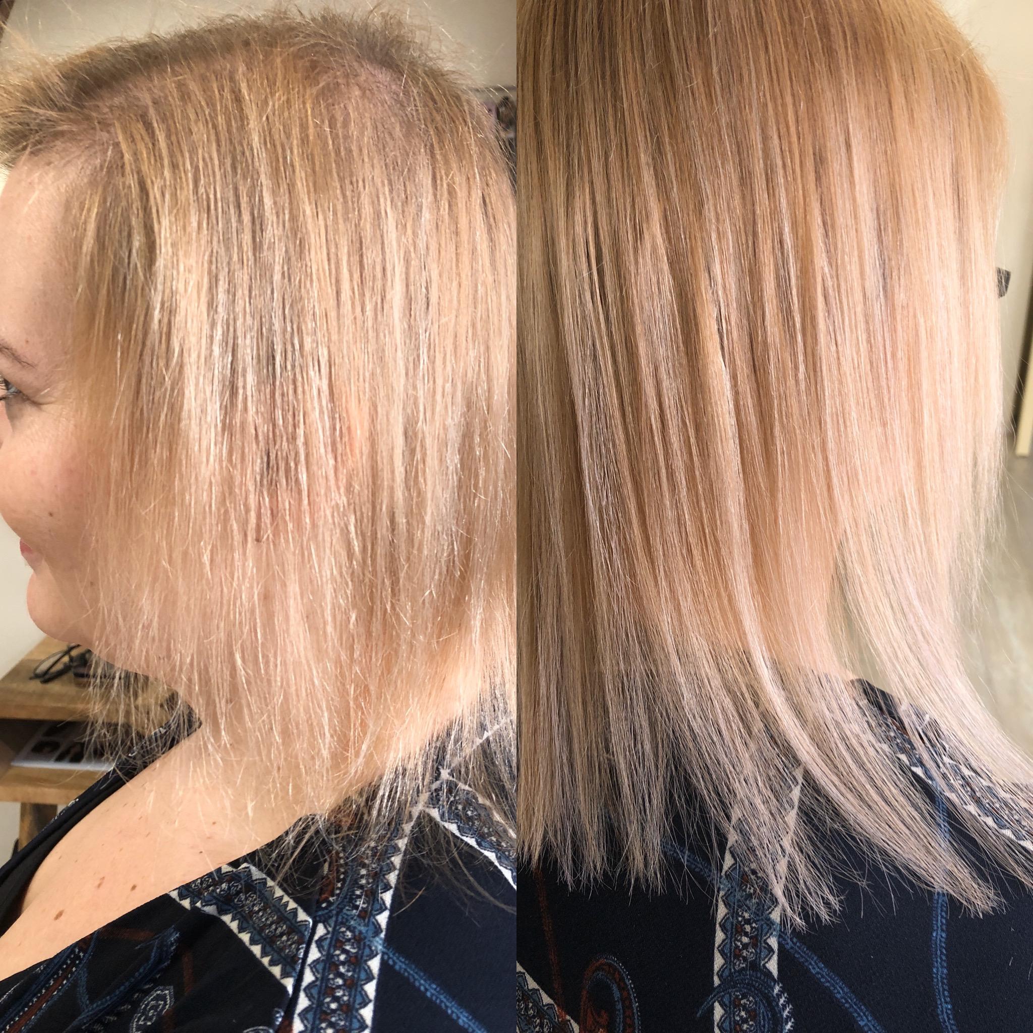 zhuštění velmi jemných vlasů