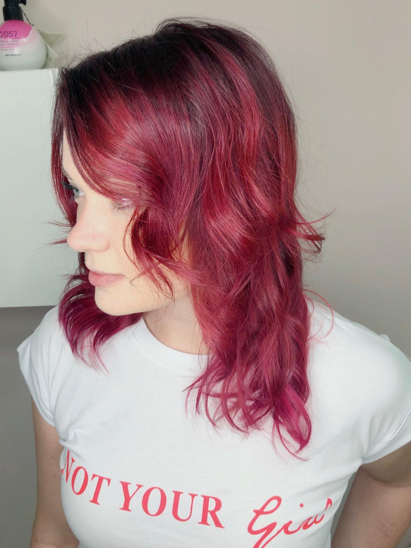 cervene vlasy