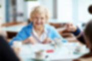 Cheerful elegant-looking elderly woman g