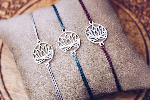 Lotusblüten - Armband silber