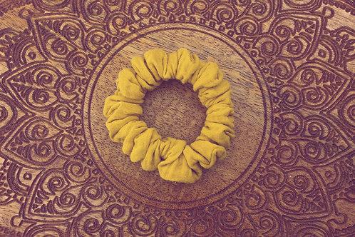 Musselin Scrunchies gelb