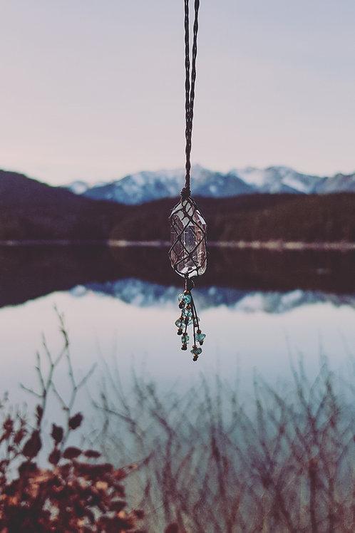 Nahimana Bergkristall - Kette Topas