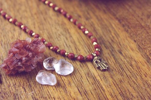 Ahmik - Goldfluss - Perlenkette