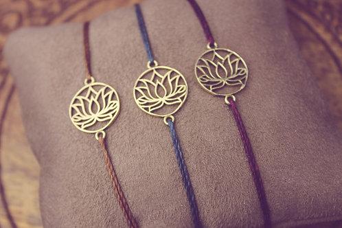 Lotusblüten - Armband Gold