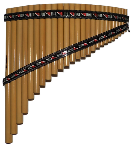 Semi-Professional 25 Pipes South-American Style Bamboo Pan Flute