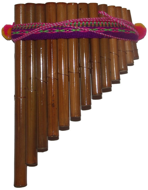 Curved Pan Flute 13 Pipes Artisan Handmade