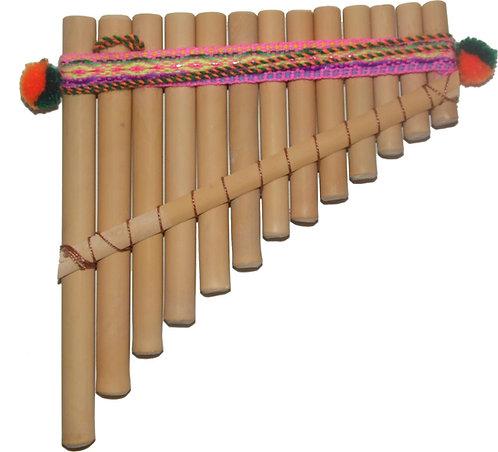 Peruvian 13 Pipes Pan Flute Antara - Artisan Handmade
