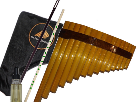 How to properly blow the pipes of your pan flute - Student 15 Pipes
