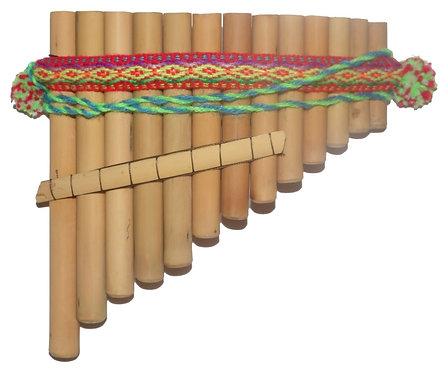 Curved Pan Flute Antara 13 Pipes Artisan Handmade