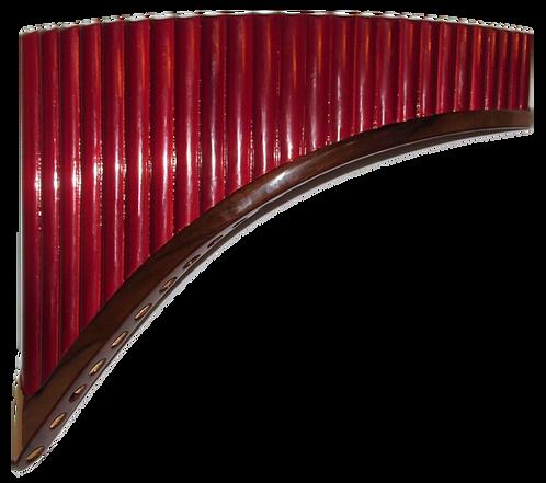 Premium Professional 25 Pipes Red Tenor Pan Flute