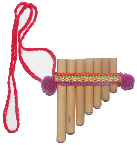 Toy Bamboo Pan Flute Antara 7 Pipes Artisan Handmade