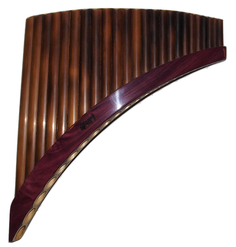 Professional Semi-Burnt 24 Pipes Tunable Pan Flute