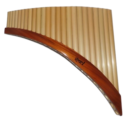 Professional 24 Pipes Left-Handed Tunable Pan Flute - Lupaca
