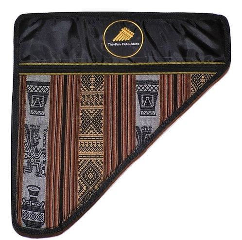 Triple Padded Pan Flute Soft Case - Peruvian Inca Design