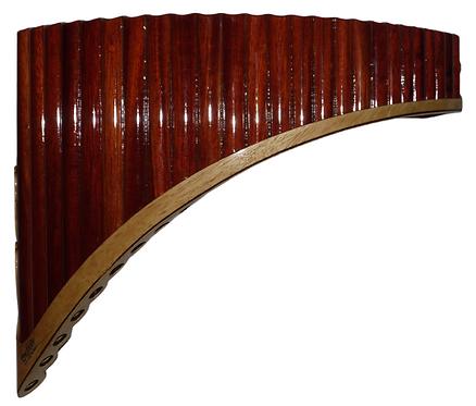 Premium Bloodwood-Cacique Wood Q'awary Tenor Pan Flute