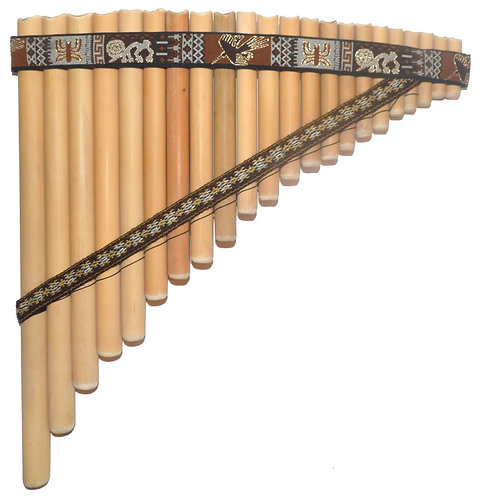 22 Pipes Nazca Lines Design Bamboo Pan Flute | Luthier Jose Chacon
