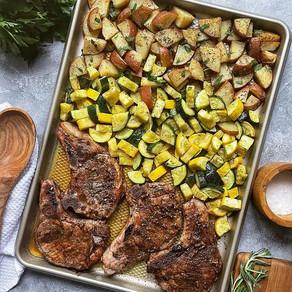 Sheet Pan Bone-In Pork Chops and Veggies
