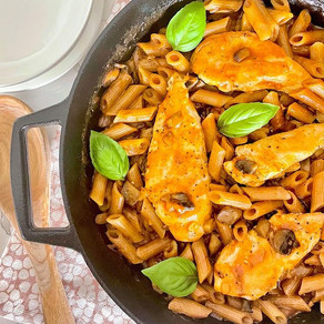 Creamy Chicken Mushroom Pasta