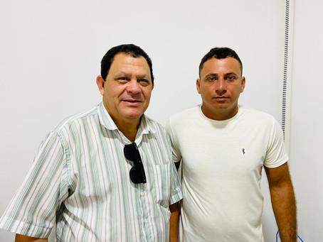 Chico Batista recebe presidente da Câmara de Jordão