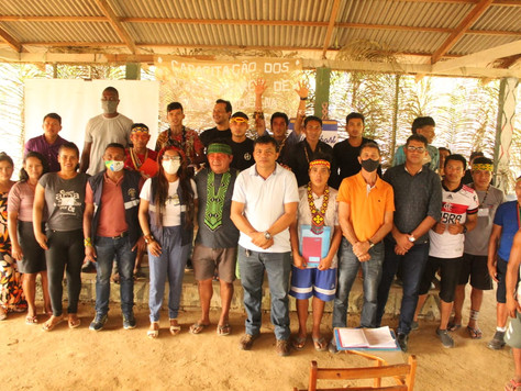 Vice-prefeito e secretário de Saúde reúnem-se com lideranças indígenas