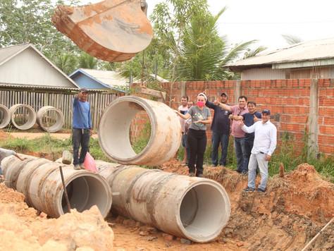 Prefeitura de Tarauacá investe pesado em obras de drenagem no Bairro Novo