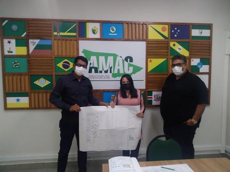 Secretário de Saúde Aderlândio cumpre agenda na AMAC para alinhamento dos projetos para Tarauacá