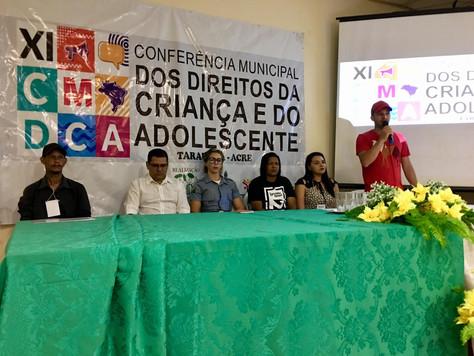DIREITOS DA CRIANÇA E ADOLESCENTE SÃO DEBATIDOS EM CONFERÊNCIA MUNICIPAL QUE TEM APOIO DA PREFEITURA
