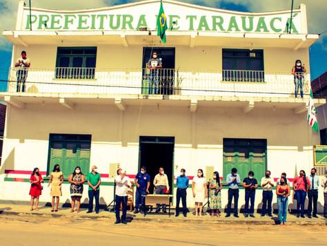 Aniversário de Tarauacá é celebrado com hasteamento de bandeiras