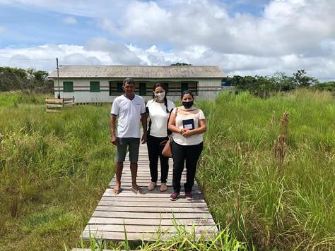 Secretária Municipal de Educação visita escola na zona rural de Tarauacá