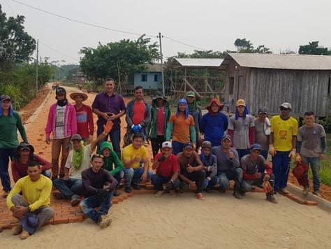 Obras de pavimentação avançam na Vila São Vicente em Tarauacá