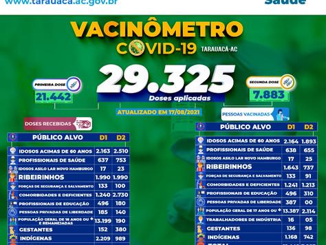 Tarauacá: 29.325 pessoas já foram vacinadas contra Covid-19 no município