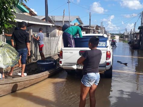 Prefeitura presta assistência às famílias vítimas de enchentes em Tarauacá