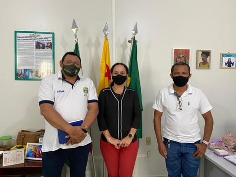 Prefeita Lucinéia recebe em seu Gabinete o chefe de divisão das políticas de Educação Ambiental