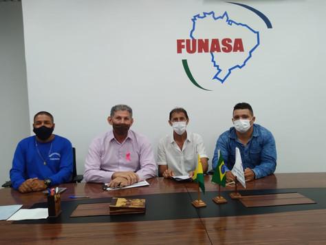 Vice-prefeito Raimundo Maranguape visita superintendente da Funasa