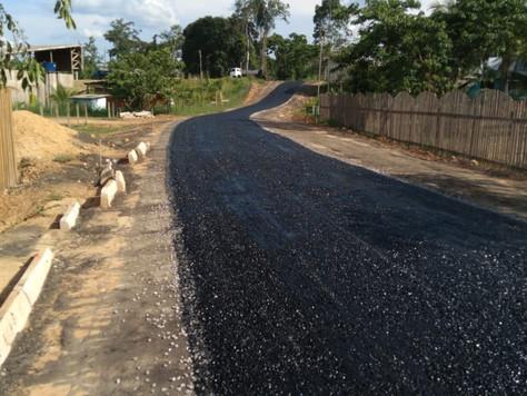 Rua da Vila São Vicente está em fase de conclusão