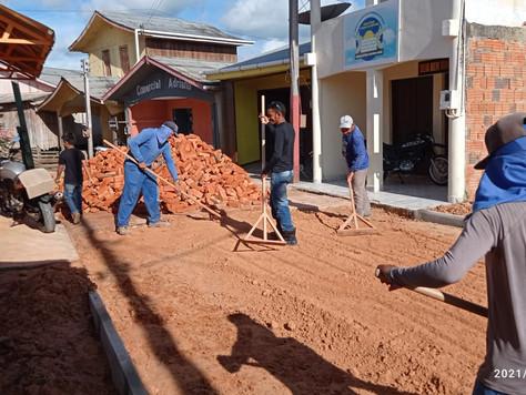Prefeitura de Tarauacá inicia novo pavimento do Beco Maria Analia