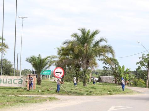 Prefeitura de Tarauacá segue a roçagem de vários pontos importantes da cidade